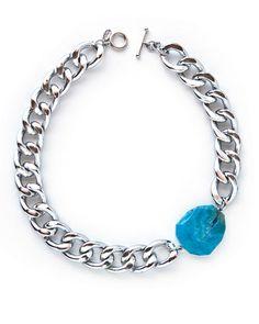 Blue Agate Necklace.
