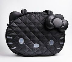 Hello Kitty Quilt Tote Bag: Black