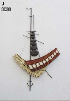 large ceramic Sailboat wall art 3d sculpture wall sea art
