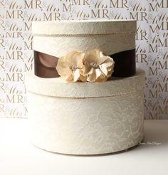 Lace Wedding Card Box