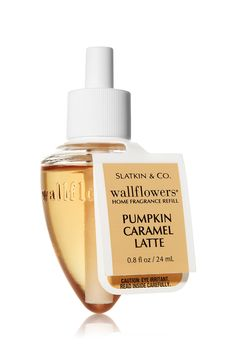 Pumpkin Caramel Latte Wallflowers® Fragrance Bulb - Slatkin & Co. - Bath & Body Works |   Our seasonal treat is back! Scent your home with this rich blend of creamy pumpkin, spiced caramel and sweet cream and keep your treasured autumn drink all season long.