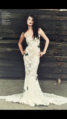 Transparent lace dress #b&w