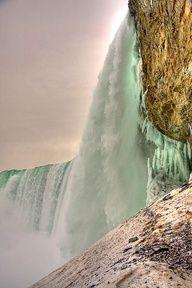 Beneath Horseshoe Falls. Niagara Falls, Ontario