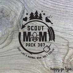 08e587052 Boy Scout Mom Shirt Design #22 - Custom Pack Number - Digital file svg & pdf