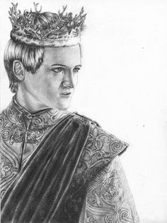 Jack Gleeson pour #GameOfThrones [Copyright : Sheepys_drawings]
