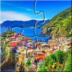 Scenic view of colorful village