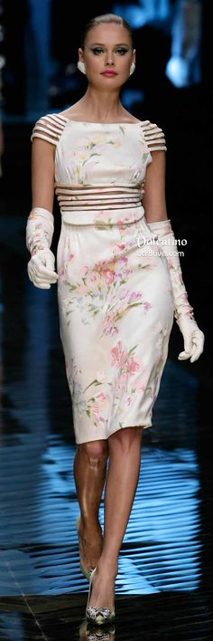 Valentino Super Pretty Floral Cocktail Dress and Long Gloves http://bcr8tive.com/farewell-valentino/