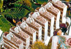 Kastanienschnitten » Kochrezepte von Kochen & Küche Cake Slices, Table Decorations, Cooking, Sweet, Desserts, Kitchen, Photos, Bakken, Candy