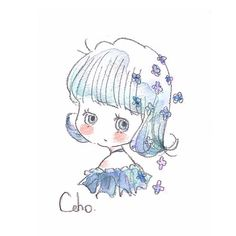 Cute Kawaii Drawings, Kawaii Art, Character Drawing, Character Design, Blue Background Patterns, Mini Doodle, Kawaii Chan, Kawaii Wallpaper, Cute Illustration