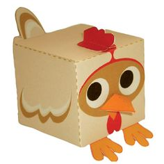 Easy chicken papercraft