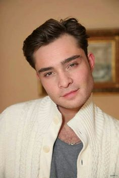 I could fall in love with this man. Ed Westwick or Chuck Bass? Ummm, both I think.