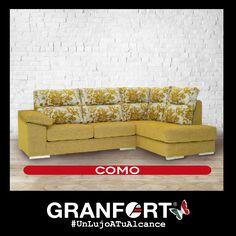 Conseguir un ambiente sofisticado y colorido para tu salón es  muy fácil con Sofás de Autor Granfort #LujoATuAlcance #Color #Deco