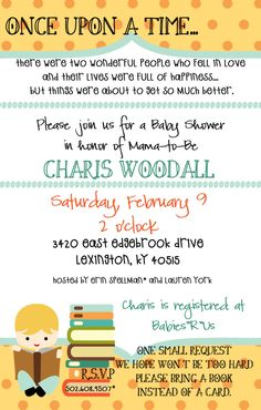 Storybook Baby Boy Shower Invitation. $12.00, via Etsy.