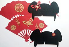Asian inspired photo booth props by Republic Of Party. Photo Booth FUN!