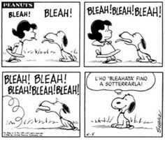 """come """"bleahah"""" Snoopy, nessuno!"""