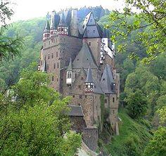 beautiful roads in europe | Eltz Above Mosel River Eifel Hunsruck Mountains Burg of most Beautiful ...