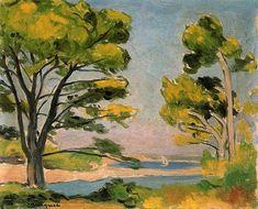 Albert Marquet - View of Galicia Raoul Dufy, Henri Matisse, Maurice De Vlaminck, Art Amour, Abstract Landscape, Love Art, Oeuvre D'art, Painting & Drawing, Illustrator