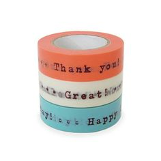Craftyjapan (washi tape): thank you, happy birthday