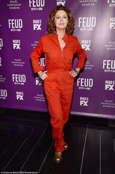 Making her declaration: Susan Sarandon (here on Tuesday) has declared herself bisexual in an interview with PrideSource this week