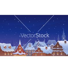 Old town christmas vector - by Merggy on VectorStock®