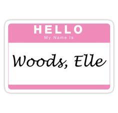 'Woods, Elle' Sticker by elderblues