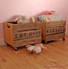 Finally know what to do with my collection of vintage fruit crates!