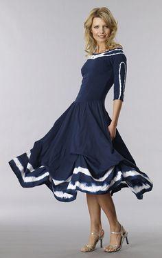 531bb89fc8d Luna Luz  Shibori Off The Shoulder Tied   Dyed Dress (More Colors!)