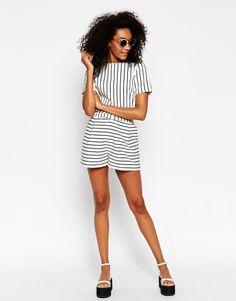 3db8a731e70aa ASOS Co-ord Shorts In Stripe Co Ord