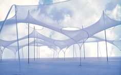 Image 2 of 5 from gallery of AD Classics: German Pavilion, Expo / Frei Otto and Rolf Gutbrod. Photograph by Frei Otto Backyard Canopy, Garden Canopy, Canopy Outdoor, Fabric Structure, Shade Structure, Canopy Architecture, Architecture Design, Architecture Diagrams, Architecture Portfolio