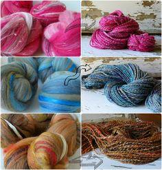 Spinning Art Batts To yarn by ontheround Spinning Wool, Hand Spinning, Yarn For Sale, Yarn Storage, Yarn Inspiration, Yarn Colors, Yarn Crafts, Just In Case, Hand Knitting