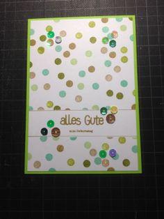 Kartenset Nr. 3 Karte 5 - groß  #stampinup #miasstempelküche #pailetten
