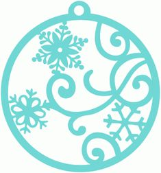 Silhouette Design Store - View Design #71730: snow flurry gift tag