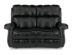 Flexsteel Leather Power Reclining Loveseat 1601-60P