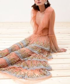 Sandra Mansour Spring 2020 Ready-to-Wear Collection - Sponsored - Vogue Source by texashounds fashion dresses Gold Lehenga, Bridal Lehenga Choli, Tulle Gown, Strapless Gown, Dress Outfits, Fashion Dresses, Dress Up, Couture Outfits, Pink Dress