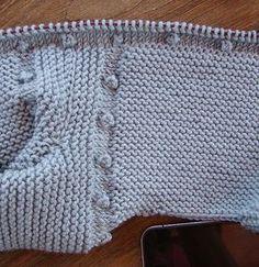 Tutorial para hacer Jersey de Bebé, baby cardigan, video e instrucciones