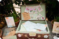 Wedding guest book - Niki & Andrew by Kat Forsyth at Petersham Nurseries