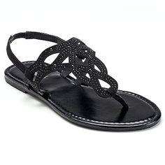 Candie's® Women's Embellished Thong Sandals