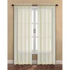 Dress up your living or bedroom windows with these 2 pack casual mesh sheer panels.