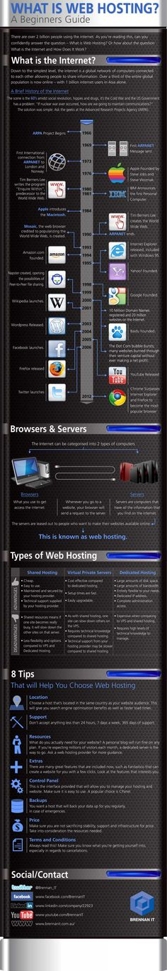 What Is Internet Web Hosting? – Infographic.