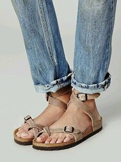 d322fc69903d NEW Free People Birkenstock Yara Ankle Strap Sandal Tobacco Size 38   7  SOLD OUT