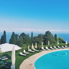 Poolside on the Amalfi Coast. Photo courtesy of schwidjaja on Instagram.