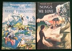 2  Book Lot Treasure Chest Song 1936 Songs We Love  1937 Songs Never Forgotten #TreasureChest