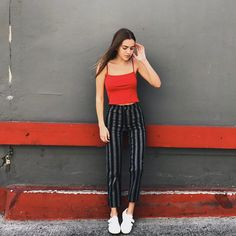 "Brandy Melville on Instagram: ""#brandyusa Tilden Pants & Alani Tank⚡️"""