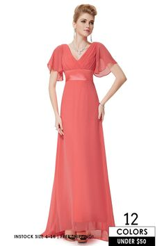 Only $46.9, Cheap Bridesmaid Dresses Cheap Empire V-neck Chiffon Sweep Train Bridesmaid Dress With Sleeves #EP09890BD at #GemGrace. View more special Bridal Party Dresses,Bridesmaid Dresses,Cheap Bridesmaid Dresses now? GemGrace is a solution for those who want to buy delicate gowns with affordable prices. Free shipping, 2018 new arrivals, shop now!