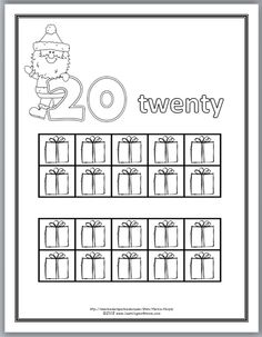 Christmas Numbers 10-20 COLORING BOOK with Ten-Frames