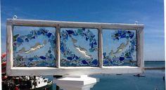 Mermaid Sea Glass Window