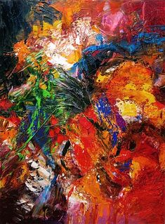"""Un Bouquet pour Vous"" par Stricher Gerard Abstract Expressionism, Abstract Art, Abstract Paintings, Art Paintings, Playground Painting, Internet Art, Art Corner, Soul Art, Bouquet"