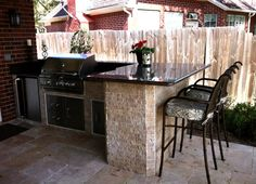 """Find out more info on """"outdoor kitchen designs layout patio"""". Have a look at our internet site. Small Outdoor Kitchens, Modern Outdoor Kitchen, Outdoor Kitchen Bars, Backyard Kitchen, Small Patio, Back Patio Kitchen Ideas, Outdoor Bar Stools, Backyard Bar, Outdoor Spaces"""