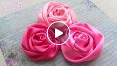 Мастер-класс: Как сделать красивые атласные Розы из лент для украшения одежды или аксессуаров. Tutorial: How to make Satin Ribbon Rose. *********************ОПИСАНИЕ �