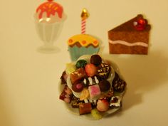 Handmade Miniature Two-Tier Candy Dish with by JansPetitPantry